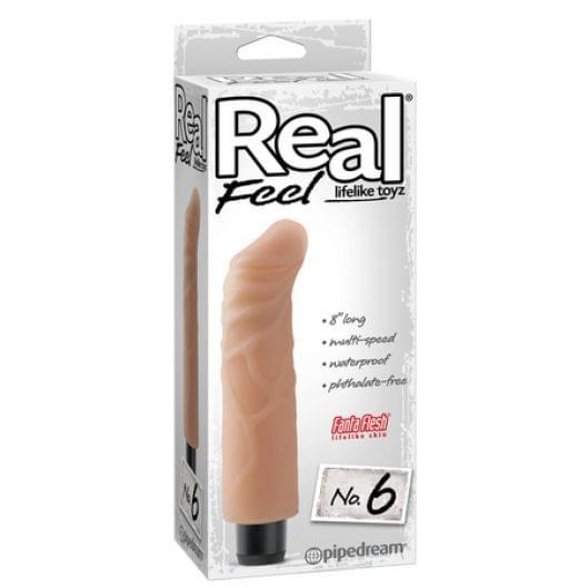 Реалистичный вибратор - Real Feel Lifelike Toyz No. 6, Flesh (21942-37)