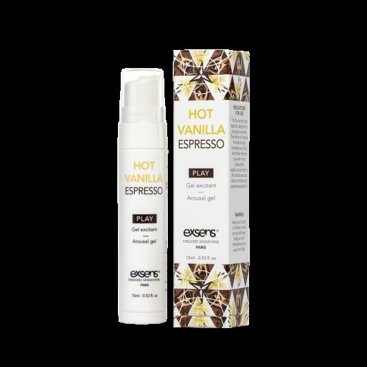 Стимулирующий гель EXSENS Kissable Hot Vanilla Espresso 15мл (15668-29)