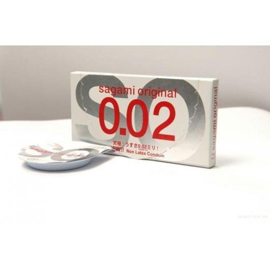 Полиуретановые Презервативы Sagami Original 0.02, цена за 1 шт. (3694-17)