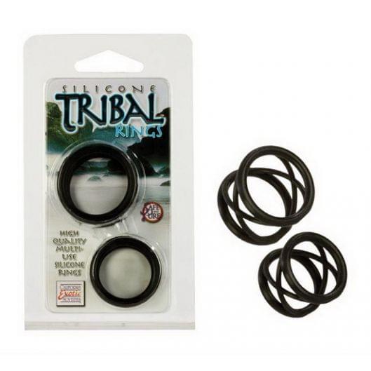 Два  эрекционных кольца Silicone Tribal Rings  (6150-17)