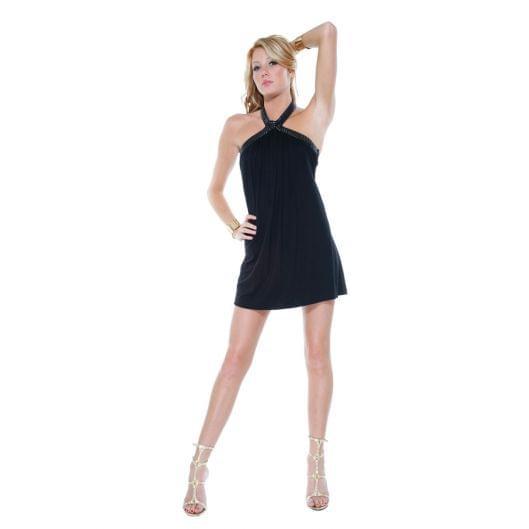Трикотажное платье c американской проймой (6478-17)