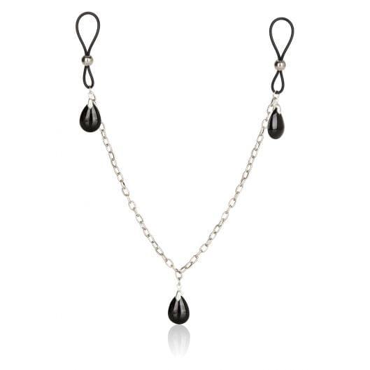 Украшение на соски Nonpiercing Nipple Chain Jewelry, оникс (553-17)