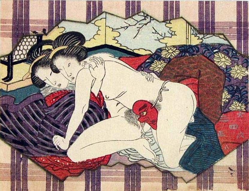 Две японские девушки занимаются любовью, используя страпон