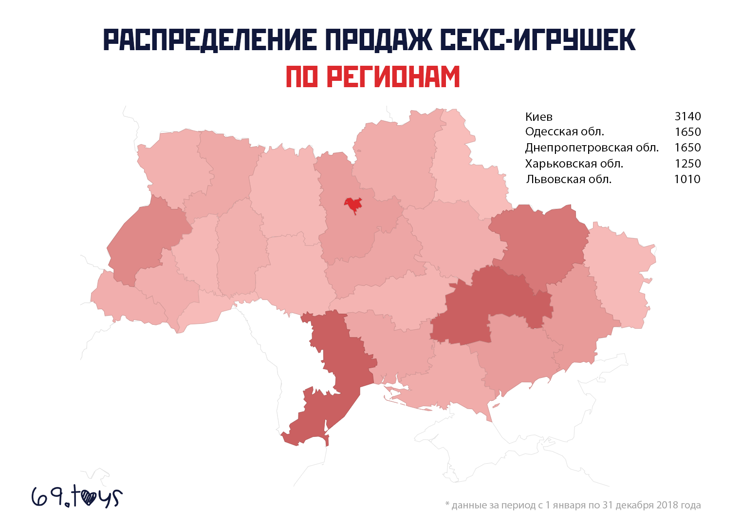 Распределение продаж секс-игрушек по регионам